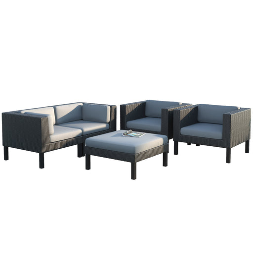 Oakland 5pc Sofa and Chair Patio Set - *CLEARANCE*