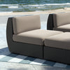 Seattle Patio Middle Seat in Textured Black Weave - *CLEARANCE*