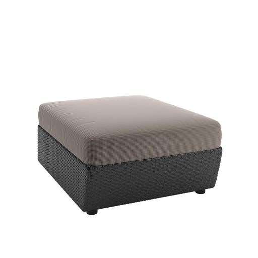 Patio Ottoman in Textured Black Weave - *CLEARANCE*