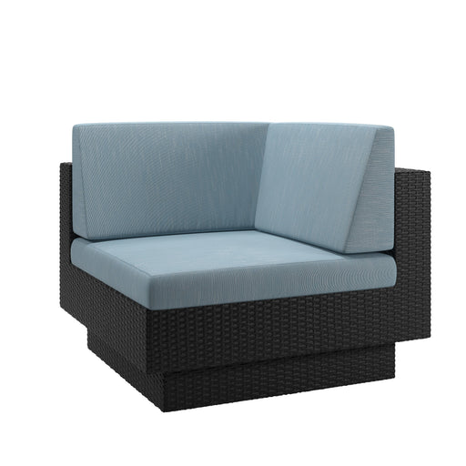 Patio Corner Seat in Textured Weave - *CLEARANCE*