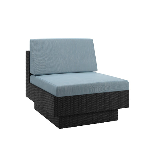 "Park Terrace Patio Middle Seat in Textured Weave - <body><p style=""color:#ED1C24"";>*CLEARANCE - Final Sale*</p></body>"
