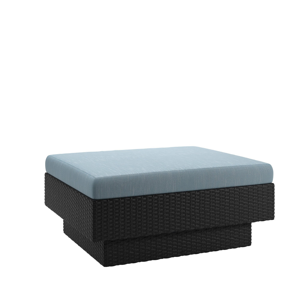 Park Terrace Patio Ottoman in Textured Weave - *CLEARANCE*