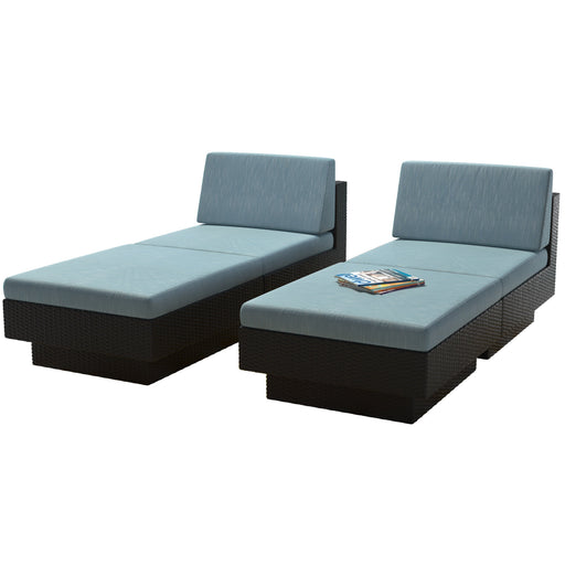 4pc Textured Weave Lounger Patio Set - *CLEARANCE*