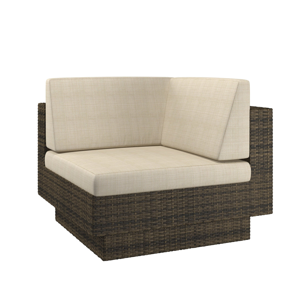 Park Terrace Patio Corner Seat in Textured Weave - *CLEARANCE*