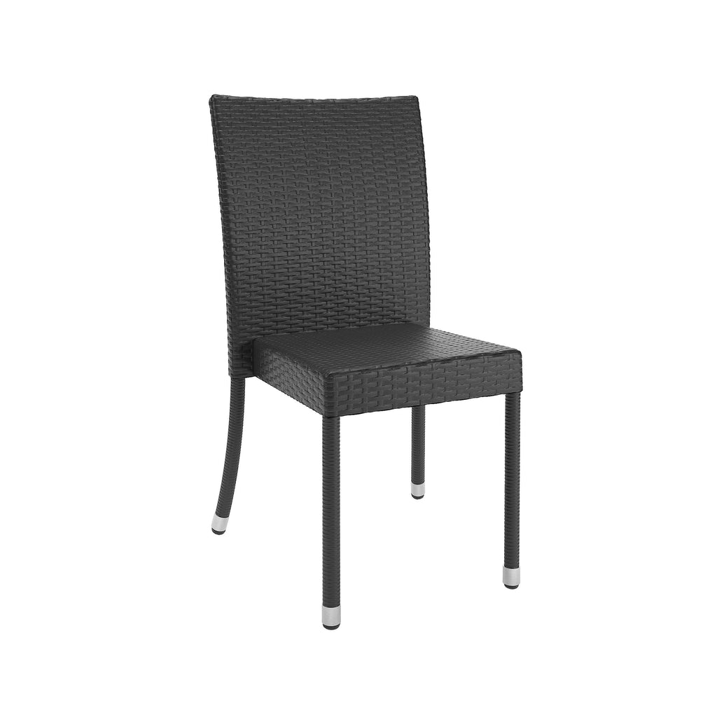 "Brisbane Charcoal Black Weave Dining Chairs, 4pc- <body><p style=""color:#ED1C24"";>*CLEARANCE - Final Sale*</p></body>"