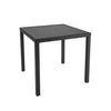 Park Terrace Square Patio Dining Table in Charcoal Black Weave- *CLEARANCE*