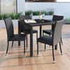 Park Terrace Patio Dining Set in Charcoal Black Rope Weave 5pc - *CLEARANCE*