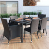 Park Terrace Charcoal Black Weave Patio Dining Set 7pc - *CLEARANCE*