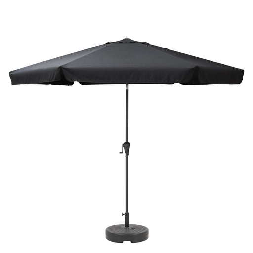 10ft Round Tilting Patio Umbrella with Umbrella Base