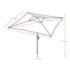 Square Tilting Patio Umbrella with Umbrella Base