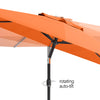 10ft Tilting Patio Umbrella with Umbrella Base