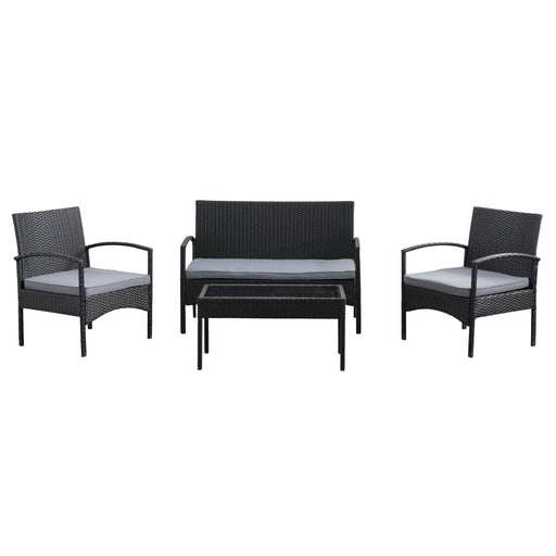 Parksville Patio Sofa Set 4pc