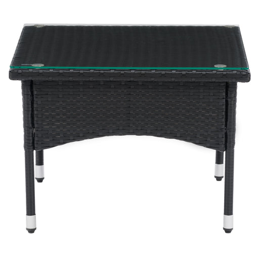 Parksville Black Rattan Side Table