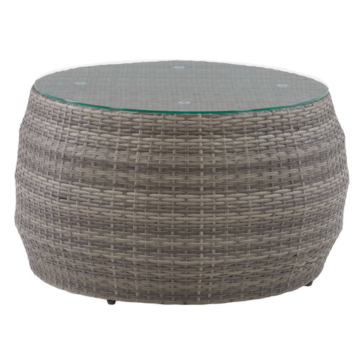 Patio Coffee Table Round - Blended Gray Frame