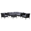 Parksville L-Shaped Patio Sectional Set with 2 Chairs 8pc