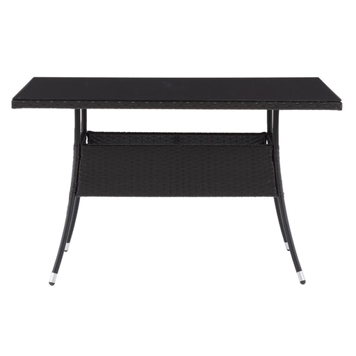 Patio Dining Table Rectangle - Black Finish