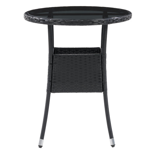 Parksville Black Rattan Bistro Table