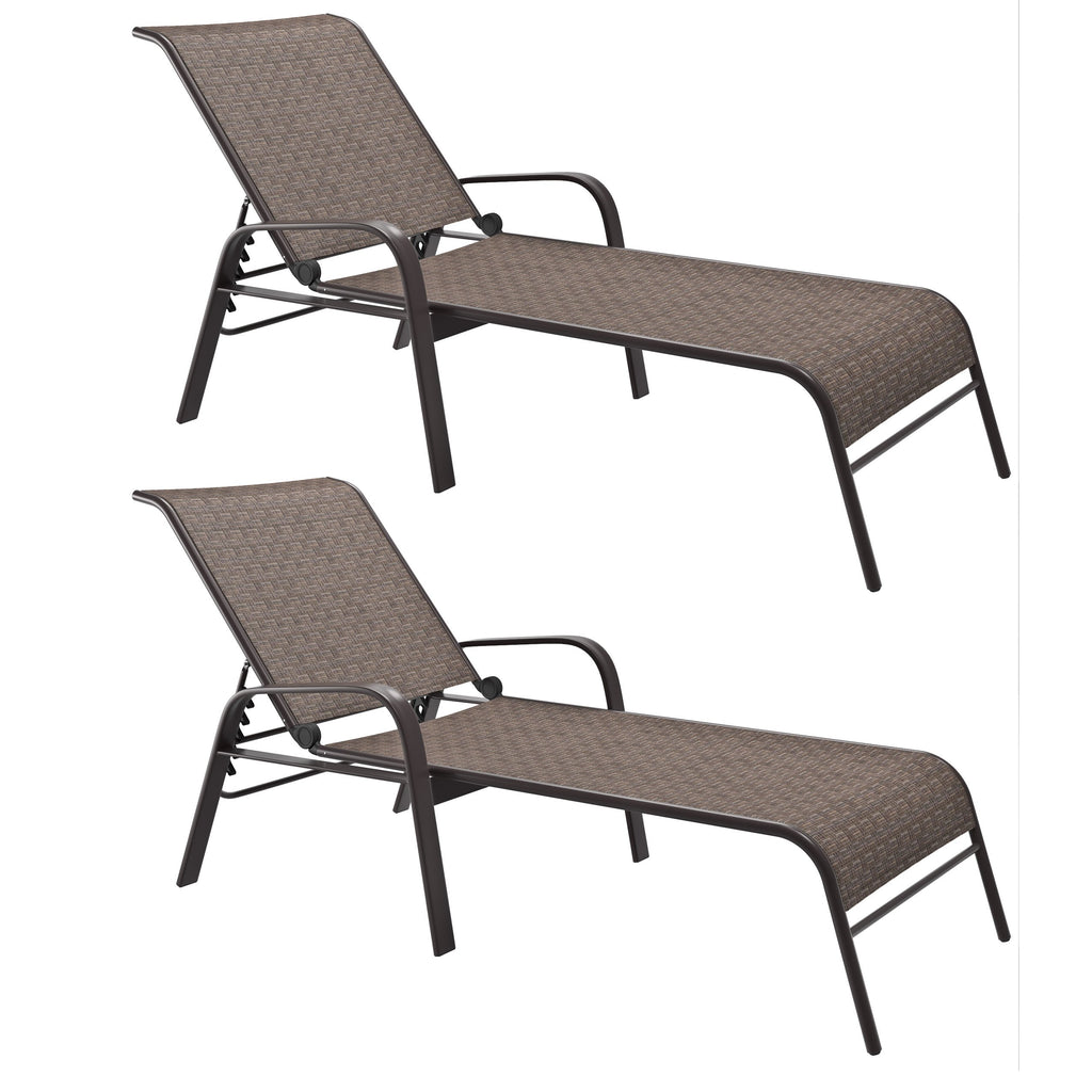 Brown Reclining Loungers, Set of 2- *CLEARANCE*