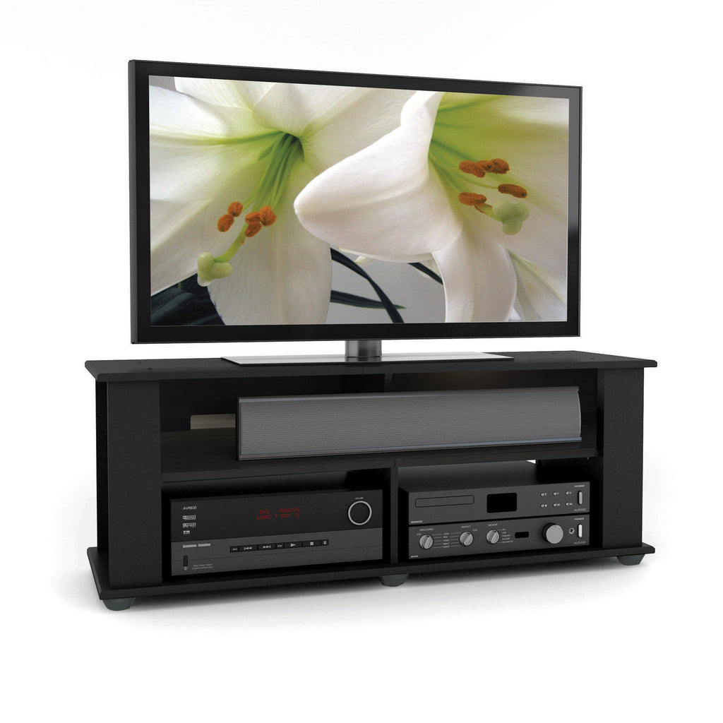 Black Wooden TV Stand, for TVs up to 55""