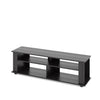 Bakersfield Black Wooden TV Stand, for TVs up to 75""