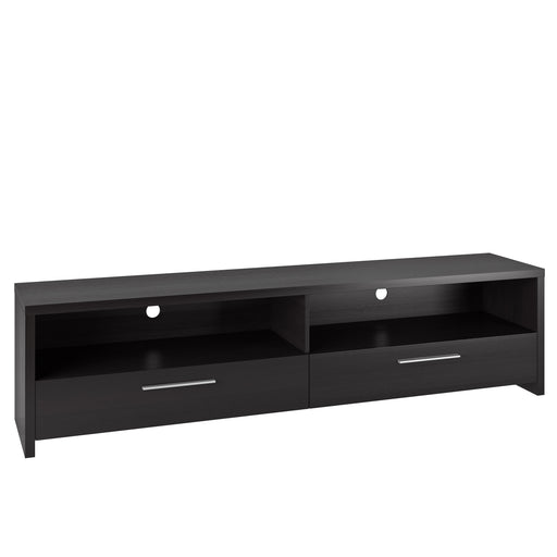Fernbrook Black Wooden TV Stand, for TVs up to 85""