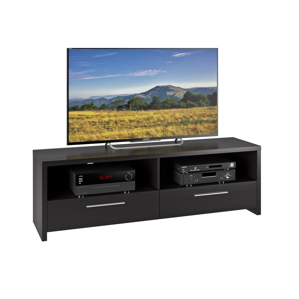 Black Wooden TV Stand, for TVs up to 70""