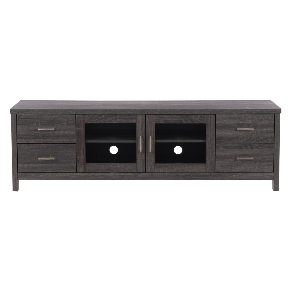 Hollywood TV Cabinet With Doors, for TVs up to 80""