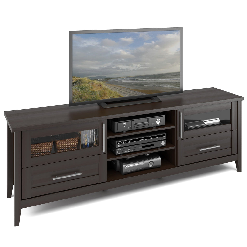 Espresso Extra Wide TV Stand, for TVs up to 80""