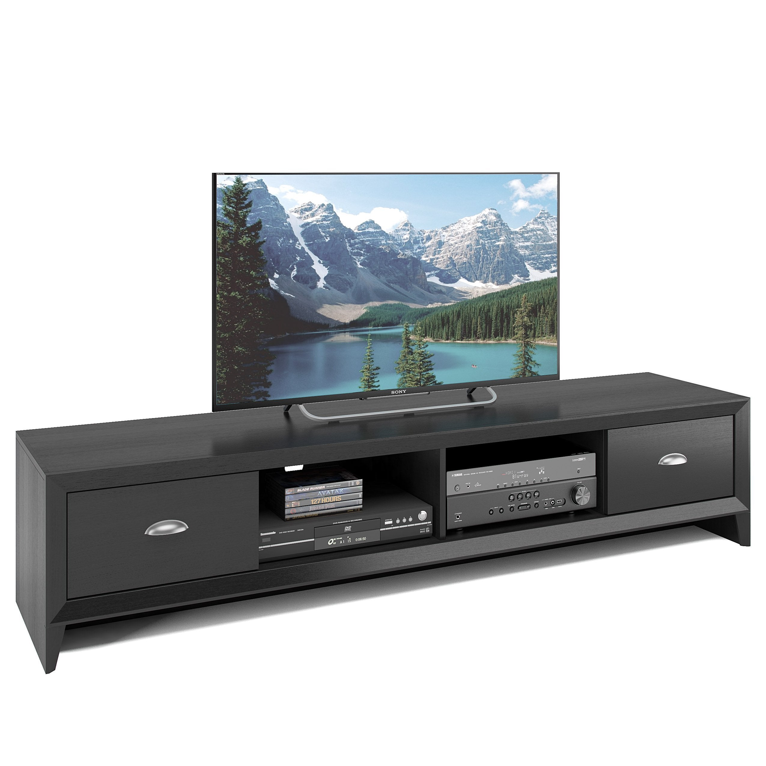 new product 30930 5046d Wooden Extra Wide TV Stand, for TVs up to 80