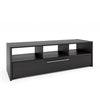 Black Wooden TV Bench, for TVs up to 68""