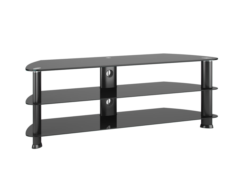 Black Glass Corner TV Stand, for TVs up to 60""