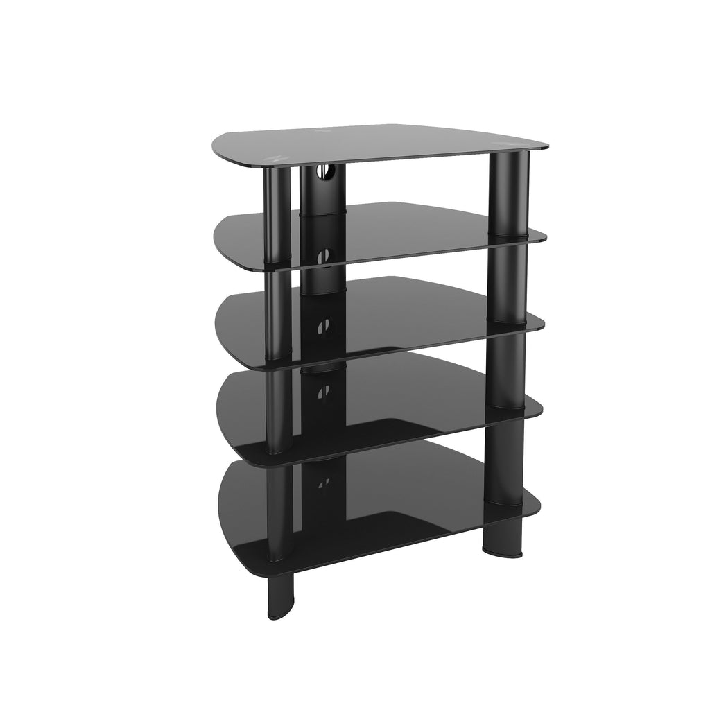 Satin Black Glass Component Stand