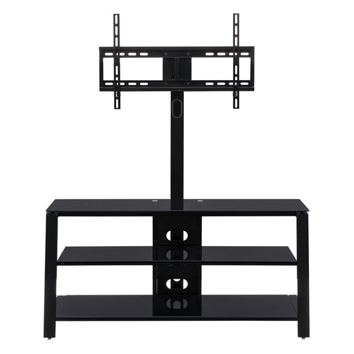 TV Bench Ensemble Unit with Built-In TV Mount for TVs up to 65""