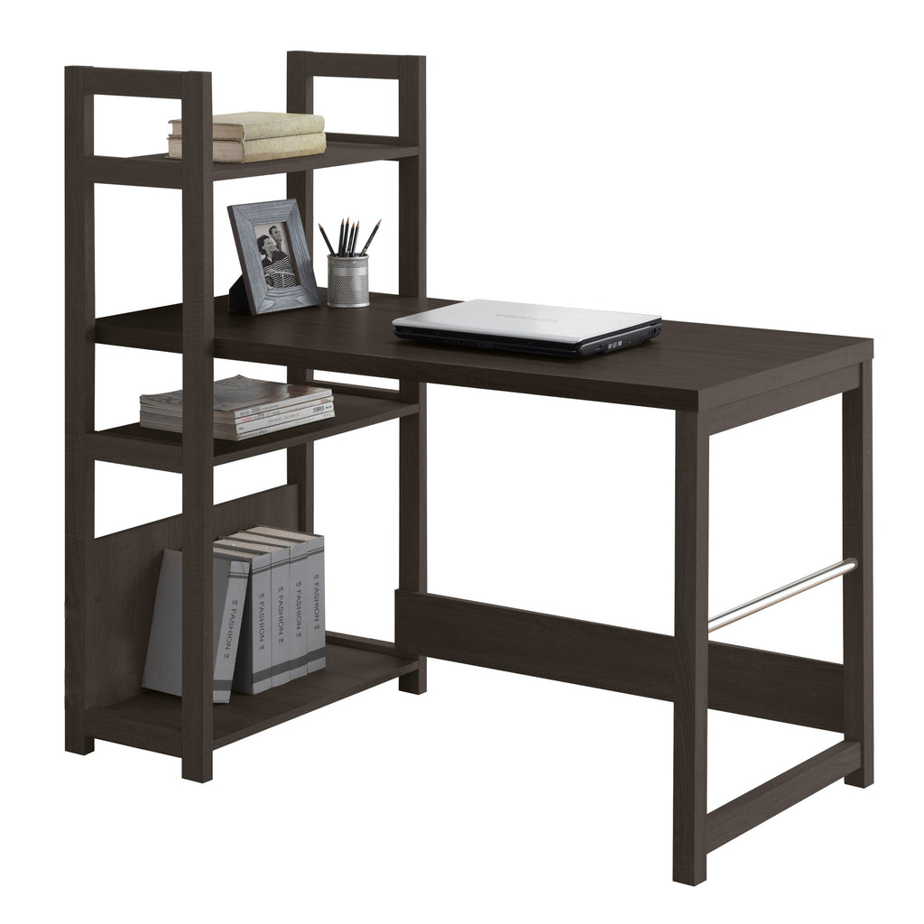 Folio Black Espresso Bookshelf Styled Desk - *CLEARANCE*