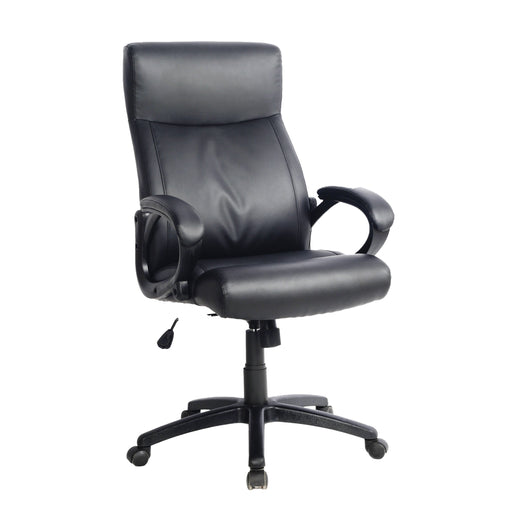 "Workspace Black Leatherette Managerial Office Chair - <body><p style=""color:#ED1C24"";>*CLEARANCE - Final Sale*</p></body>"