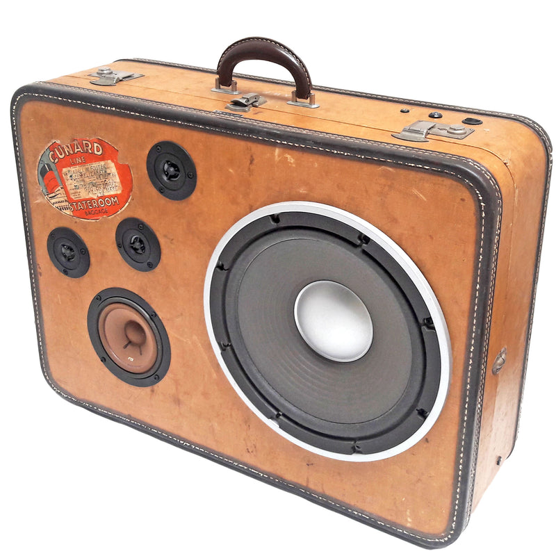 Well Traveled 200 Watt BoomCase - Vintage Suitcase BoomBox Suitcase Speaker w/ Bluetooth