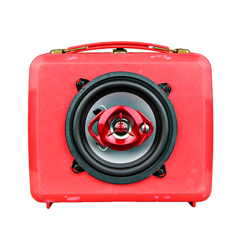 Vintage Transformers Lunch Box BoomBox Speaker BoomCase Bluetooth RedVintage Transformers Lunch Box BoomBox Speaker BoomCase Bluetooth Red