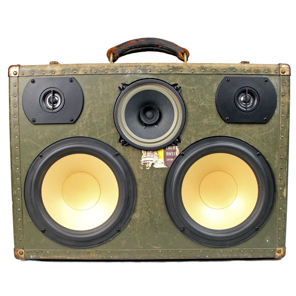 Vintage Suitcase BoomBox Speaker BoomCase Luggage Bluetooth Hartmann Seapack