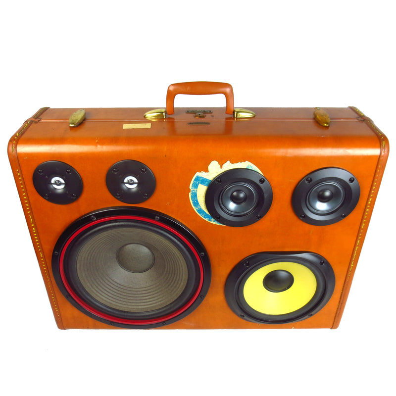 Classic Thumper 200 Watt BoomCase - vintage suitcase portable boombox
