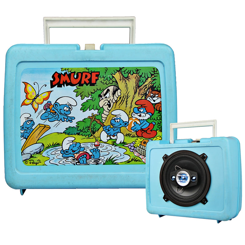 Vintage Lunchbox Smurf Speaker BoomBox by BoomCase