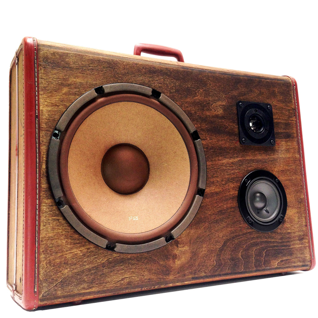 Soild Grain 200 Watt BoomCase - Vintage Suitcase BoomBox Suitcase Speaker w/ Bluetooth