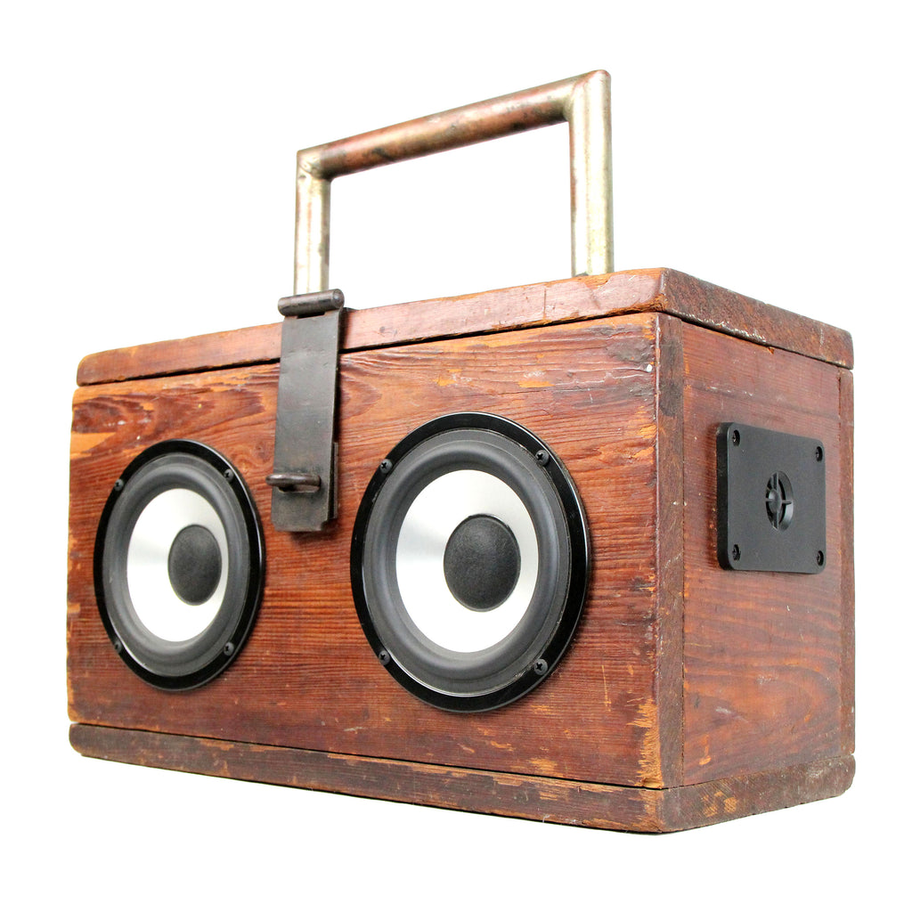 Vintage Wooden ToolBox With Speakers BoomBox BoomCase Bluetooth Speaker