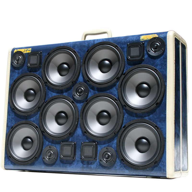 Super Signature Series 400 Watt BoomCase - Vintage Suitcase BoomBox Suitcase Speaker w/ Bluetooth