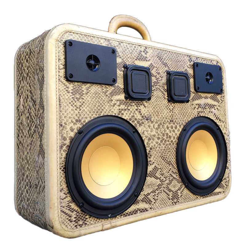 Snakey Smooth 200 Watt BoomCase - vintage suitcase portable boombox