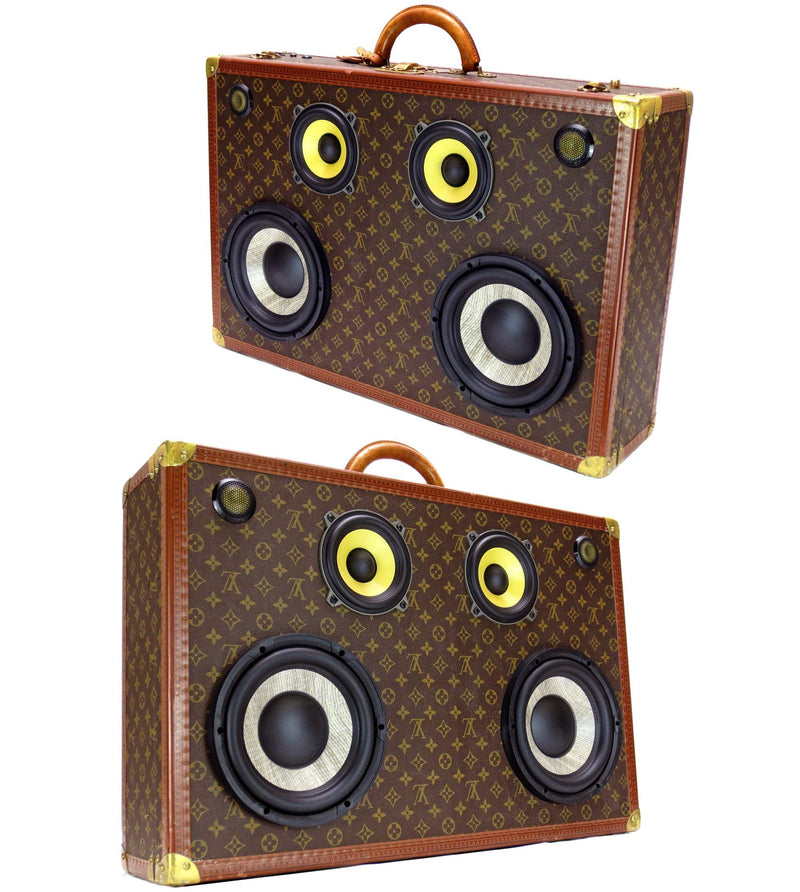 Louis Vuitton Custom 400 Watt BoomCase - Vintage Suitcase BoomBox Suitcase Speaker w/ Bluetooth
