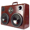 Monster Mini DJ Special 700 Watt BoomCase - Vintage Suitcase BoomBox Suitcase Speaker w/ Bluetooth