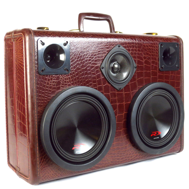 Monster Mini DJ Special 700 Watt BoomCase - Vintage suitcase portable Retro boombox