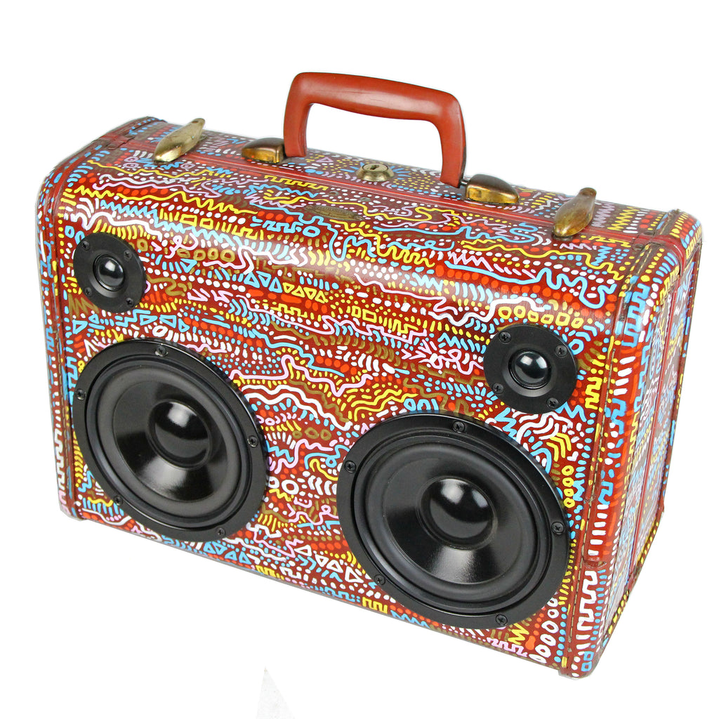 Vintage Suitcase BoomBox Speaker BoomCase Luggage Bluetooth