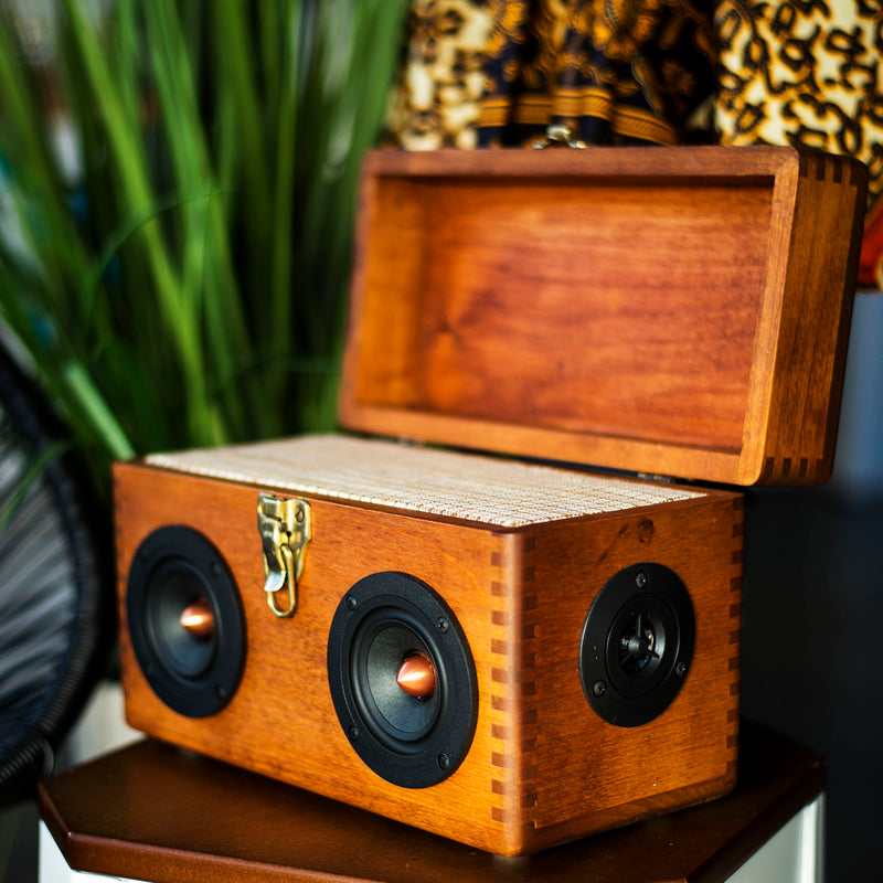 Woodsmen 50 Watt BoomCase - Vintage Suitcase BoomBox Suitcase Speaker w/ Bluetooth