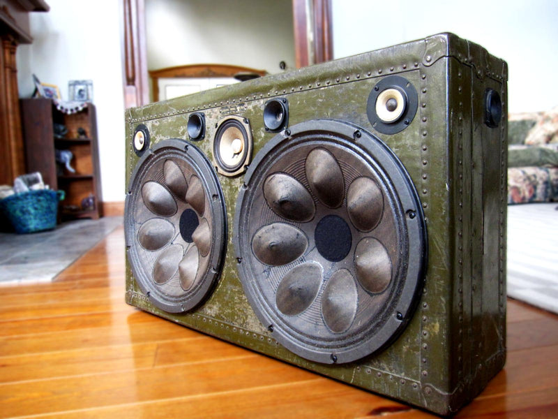 Area 51 700 Watt BoomCase - Vintage Suitcase BoomBox Suitcase Speaker w/ Bluetooth